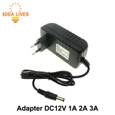 DC12V Adapter AC100-240V Verlichting Transformers OUT ZET DC12V 1A/2A/3A Voeding voor LED Strip.