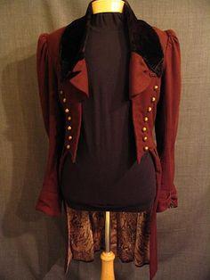 would make a great femme 8th doctor jacket Romeo 09014139 Coat Men's 1830s, brown wool, 40L.JPG