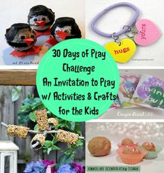 Our 30 Days of Play Challenge is now LIVE with a Mom Mantra, Mom Tip and lots of kid activities for you to choose from! 10 Fun Kid Activities