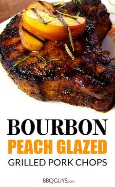 Sear up some delicious thick cut pork chops with a juicy center! This recipe is the perfect mix of sweet and spicy and can be cooked on your charcoal or gas grill. Grilling Thick Pork Chops, Sides For Pork Chops, Thick Cut Pork Chops, Peach Pork Chops, Bbq Pork Ribs, Glazed Pork Chops, Grilled Pork Chops, Pork Chops With Peaches, Grilling Ribs