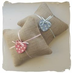 Lavender cushions; very cute