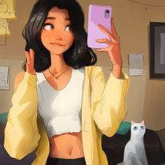 Selfie , an art print by Sam Yang