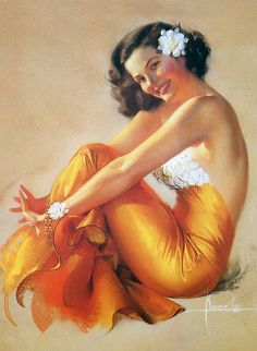 Rolf Armstrong © ARTIST COPYRIGHT FOR THIS IMAGE IS FULLY RECOGNISED & ACKNOWLEDGED.