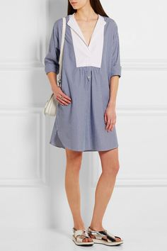 Vanessa Bruno | Eole striped cotton-poplin mini dress | NET-A-PORTER.COM