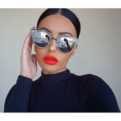 Women's Sunglasses Women's Glasses Zuczug 2018 New Boys And Girls Color Pattern Cats Eye Sunglasses High-grade Fashion Brand Casual Glasses Safety Rice Nail Uv400