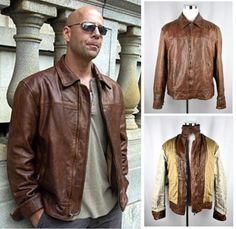 SUPER-RARE-Mens-Banana-Republic-Leather-Safari-Jacket-Die-Hard-Bruce-Willis-XL Statement Jackets, Safari Jacket, Bruce Willis, Die Hard, Gifts For Dad, Banana Republic, Dads, Boyfriend, Husband
