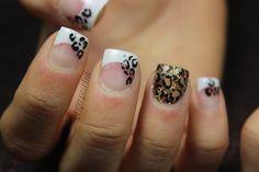 Cheetah French Nails by leximartone - Nail Art Gallery nailartgallery.nailsmag.com by Nails Magazine www.nailsmag.com #nailart