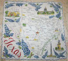 Texas hanky  Bluebonnetsetc on etsy.com