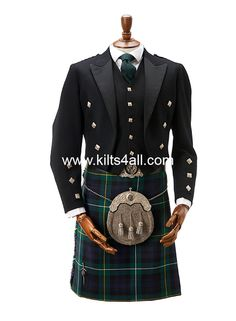 Campbell of Argyll tartan worn with Argyll jacket and 5 button waistcoat, chrome detailing and handmade chrome accessories are worn to create a classic and traditional look. All garments shown are available in our showroom in Kings Cross, London. www.kilts4all.com