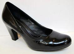 Born Crown 'Sabrina' Nero Back Leather Pump N09903 Size 40.5/US 9 #Born #PumpsClassics