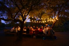 It wouldn't be California Wine Country if there was no al fresco dinner under twinkling lights!