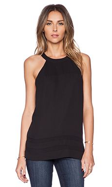Shop for Sam Edelman Sheer Inset Tank with Zip Back in Black at REVOLVE. Free day shipping and returns, 30 day price match guarantee. Sam Edleman, Revolve Clothing, Back To Black, Basic Tank Top, Zip, Tank Tops, Shopping, Women, Fashion