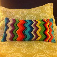 Cojín a crochet, hecho por mi #crochet #handmade #tejido