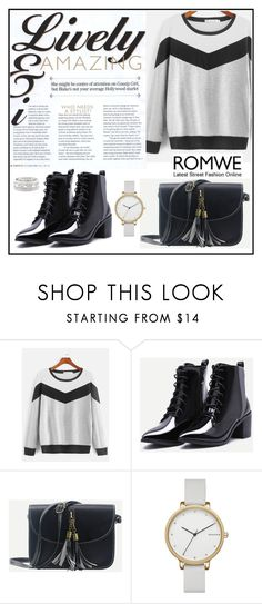 """Romwe 9"" by amra-f ❤ liked on Polyvore featuring Skagen, Sole Society and romwe"