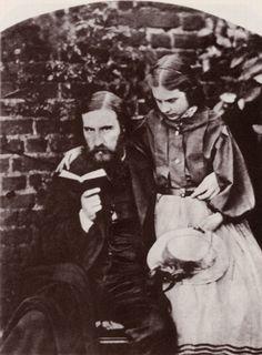 1863 Carrol, Lewis: George MacDonald, Romanautor und Dichter, mit seiner ältesten Tochter, Lily.