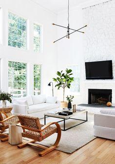 Perfetto mood californiano in questo soggiorno moderno ed elegante.  #homedecor #interiordesign