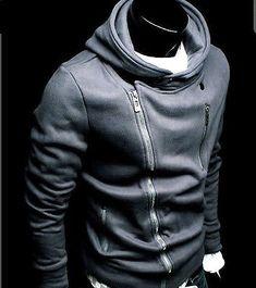 Z05 New Mens Slim Fit Zip Up Hoodies Jackets US S,M,L,XL BLACK,GREY, DARK BLUE
