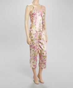 Look at this #zulilyfind! Pink & Yellow Blossom Pajamas - Women by Kathryn #zulilyfinds