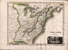 Rare 1814 map of the United States including the short-lived State of Franklin (between Tennessee and North Carolina)  ;p