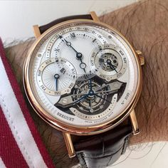 The @montresbreguet #Tourbillon #perpetualcalendar on the wrist. by equationdutemps