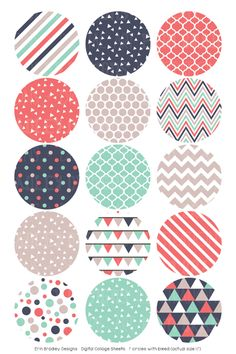 Triangle Party Digital Bottle Cap Images – Erin Bradley/Ink Obsession Designs