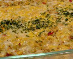 Leftover Chicken or Turkey Rice Casserole