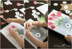Planting Tulips Free Printable Spring Activity from Mama Miss. What a pretty printable, my daughter will love this!