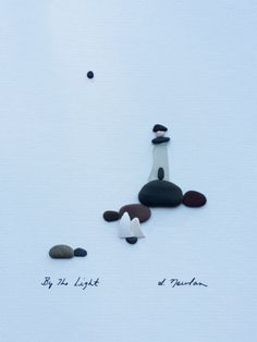 8 by 10 lighthouse by sharon nowlan by PebbleArt on Etsy