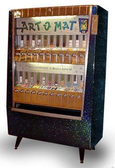 Art O Mat - Converted Cigarette Machine Dispenses Art! ( retro vending machine / vintage vending machine / 50's / atomic age  / space age design )