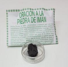 PIEDRA DE IMAN ATRAE DINERO ORACION INCLUIDA / LODESTONE MINERAL MAGNET