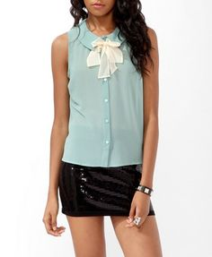 Bow Accent Shirt | FOREVER 21 - 2000044075