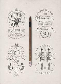 Vintage Styled Hand Drawn Illustrations and Typography by BMD Design