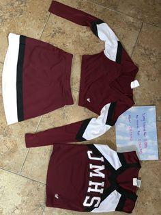 Burgundy John Marshall cheerleading uniform for Sale in San Antonio, TX - OfferUp - - Used (normal wear), Burgundy John Marshall cheer uniform. Size S. Only used for one season. Make an offer! Varsity Cheer Uniforms, All Star Cheer Uniforms, Cheerleading Uniforms, School Cheerleading, College Cheer, San Antonio, Cheerleading Company, Texans Cheerleaders, School Dance Dresses