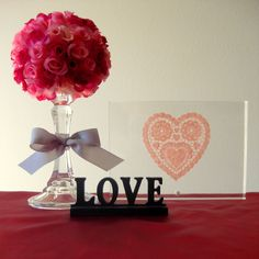 Simple Floral Centerpiece Project stayathomeartist.com: candlestick topiary tutorial...