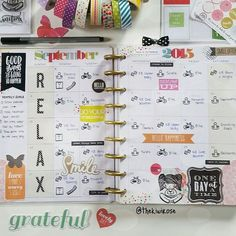 """""""A closer look at how I actually set up the month in my @the_happy_planner…"""