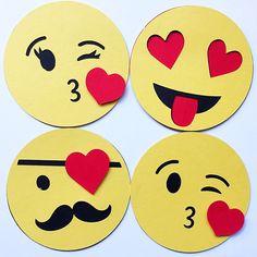Emoji Valentine. Classroom Valentine for Kid. Kids Valentine. Valentines Day Card Set. Emoji Party Favor. Emoticon Valentine. Hashtag tag