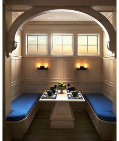 Unique kitchen dining niche