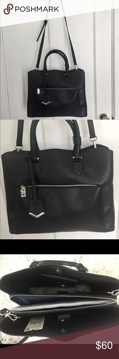 Zara Convertible Top Handle Bag Multi-functional top handle tote with removable crossbody strap. This bag has multiple pockets and compartments to stay super organized. It also has a center laptop zipper compartment, making it the perfect work bag! Zara Bags Totes
