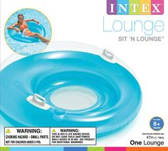 "Intex Sit 'n Lounge Inflatable Pool Float, 47"" Diameter, for Ages 8+ Swimming Pool 58883"