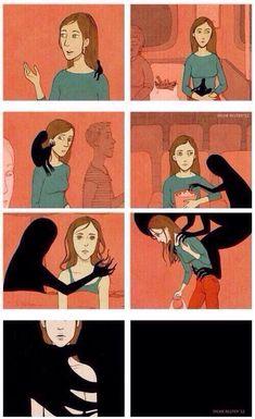 COMO A DEPRESSÃO AGE  Muita gente fala que é frescura, que a pessoa só está desse jeito porque quer atenção, mas a depressão é uma doença séria. Nosso mundo preconceituoso e desigual, torna-se um ambiente ideal para a expansão da doença. A depressão é um fantasma silencioso.