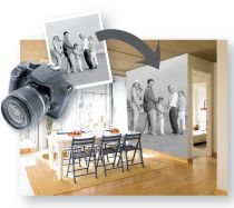 Wall Murals, Wallpaper Murals, Custom Murals- Murals Your Way.  Saw this in a magazine.  Create your own mural with personal pictures