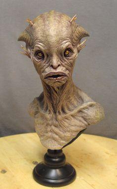 Alien bust. by BOULARIS on DeviantArt
