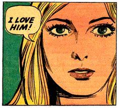 vintage comic girls (1971)