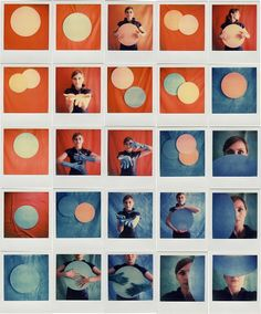 Circle: By Andrea Ehrenreich, more artworks http://www.artlimited.net/16147 #Photography #Polaroid #instant #film #People