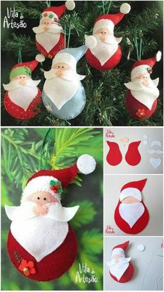 diy crafts to sell easy \ diy crafts . diy crafts for the home . diy crafts for kids . diy crafts to sell . diy crafts for adults . diy crafts to sell easy . diy crafts for the home decoration Diy Craft Projects, Christmas Craft Projects, Felt Christmas Decorations, Felt Christmas Ornaments, Felt Crafts, Handmade Christmas, Holiday Crafts, Diy And Crafts, Sewing Projects