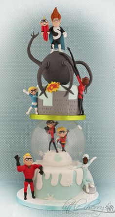 My Fave Stacked Incredibles Cake Ever! - by Little Cherry on CakesDecor - http://cakesdecor.com/cakes/127844-incredibles-cake