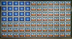 "Celebrate with Nam June Paik's ""Video Flag Z"" comprised of 84 television sets Happy 4 Of July, 4th Of July, Nam June Paik, Flag Art, Boynton Beach, Los Angeles County, Great Words, Mural Art, Art Lesson Plans"