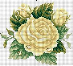 This post was discovered by 🍃 Cross Stitch Rose, Cross Stitch Flowers, Cross Stitch Charts, Cross Stitch Designs, Cross Stitch Patterns, Cross Stitching, Cross Stitch Embroidery, Seed Bead Flowers, Embroidery Patterns Free
