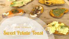 "In this video Aviva Goldfarb shows you how to make sweet potato toast in the toaster or in the oven. Sweet potato toast is an natural gluten-free ""toast"" mad. Healthy Snacks, Healthy Eating, Healthy Recipes, Free Recipes, Kid Snacks, Thm Recipes, Family Recipes, Clean Eating, High Protein Granola Recipe"