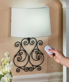 Wall Lamp Sconce Metal Scrolled Remote Controlled LED Bedroom Living R – DnDistributionEnterprises